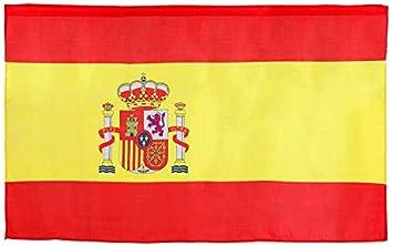 Atosa-57618 Atosa-57618-Bandera De España 120X60 cm-Mundial De Fútbol Y Deportes, color rojo y amarillo (57618): Amazon.es: Juguetes y juegos