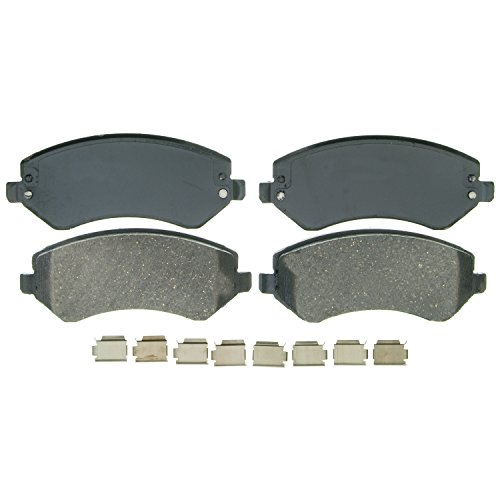 Wagner QuickStop ZD856A Ceramic Disc Pad Set Includes Pad Installation Hardware, (Jeep Liberty Brake Pads)