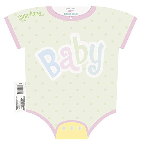 Polka Dot Baby Shower Sign In Sheet (Party Sign In Sheet)