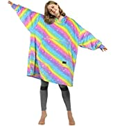 Catalonia Oversized Blanket Hoodie Sweatshirt, Giant Fleece Pullover with Large Front Pocket, Sup...