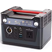 #LightningDeal ROCKPALS 300W Portable Generator Lithium Portable Power Station, 280Wh CPAP Backup Battery Pack UPS Power Supply 110V AC Outlet, QC3.0 USB, 12V/24V DC, LED Flashlight for Camping, Home, Emergency