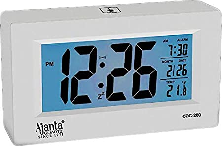 Ajanta Digital Table Clock (ODC-200 White)