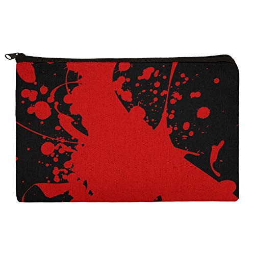 Blood Splatter Classic Horror Movie Halloween Makeup Cosmetic Bag Organizer Pouch