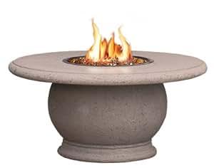 AFD–ánfora firetable con empotrado de granito–propano–Cafe Blanco (Heavy textura) Base
