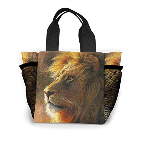 Lunch Case For Women Lion Paint, Leakproof Lunch Storage For Picnic