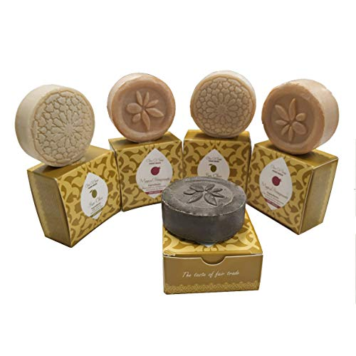 5 round bar set of soaps by Sindyanna, Handmade, Traditionally Made. 2.1 Oz Each. Therapeutic Olive Oil Soap Bars with Natural Extracts and Ingredients Excellent. Cleansing Exfoliant and ()
