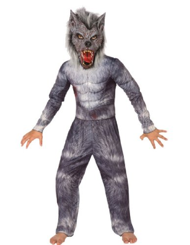 [Big Boys' Werewolf Costume Medium (8-10)] (Wolf Halloween Costumes)