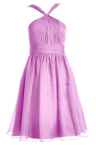 Chiffon Gown Women Dress Cocktail Formal Bridesmaid Macloth Party Short Knotted Rosa BEdqBwz