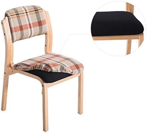 Chaise de salle à manger SLL en bois massif moderne et minimaliste (couleur : C)