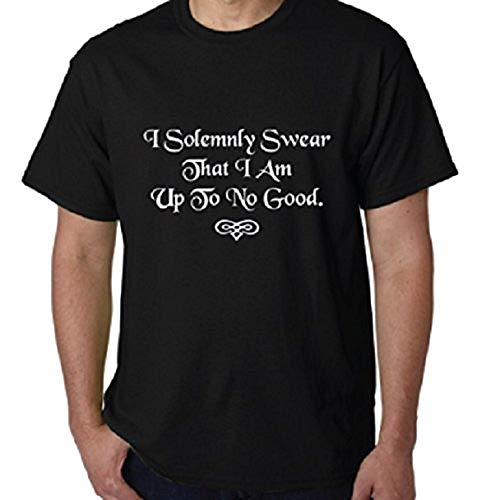 I Solemnly Swear That I Am Up to No Good Mischief Managed Harry Potter Quote Funny T-Shirt (Swear, Large)
