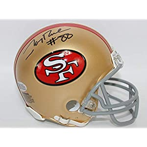 Jerry Rice Autographed San Francisco 49ers Mini Helmet w/Beckett COA