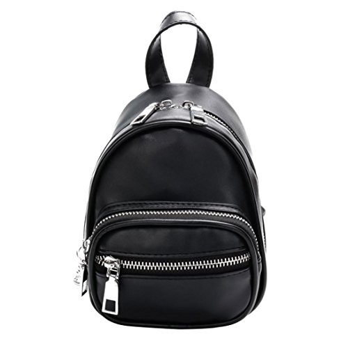 Women Girls Fashion Leather Crossbody Bag School Bag Backpack Satchel Large Tote Trave Chest Bag Zipper by SHL (Image #8)
