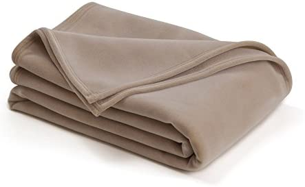 The Original Vellux Blanket Full Queen Soft Warm Insulated Pet Friendly Home Bed Sofa Tan