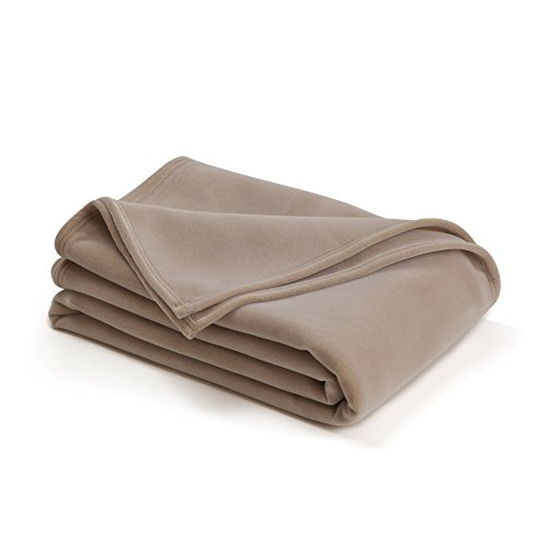 (The Original Vellux Blanket - King, Soft, Warm, Insulated, Pet-Friendly, Home Bed & Sofa - Tan)