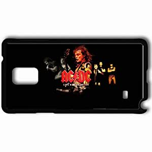 Personalized Samsung Note 4 Cell phone Case/Cover Skin Acdc Group Solo Emotions Black