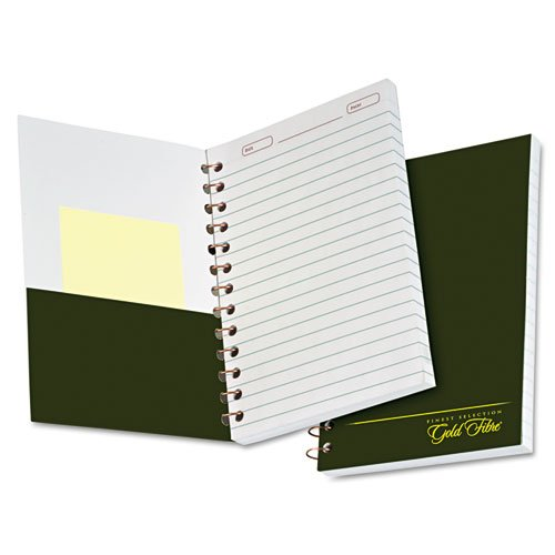 Ampad Gold Fibre Classic Series Personal Notebook, Page and Date Headings with Pocket Cover, Medium Ruling, 100 Sheets (20-801R)