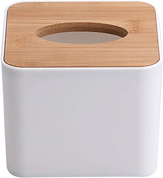 Yves25Tate Caja de pañuelos Caja de pañuelos de bambú y Madera de ...