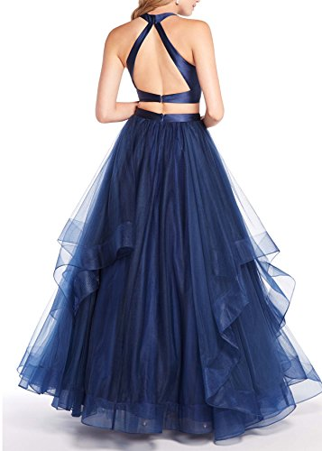 Gown Beauty Prom Bridal Prom Piece Formal Two Ball Asymmetric Pink Long Dresses Layered TWpxTw4dP