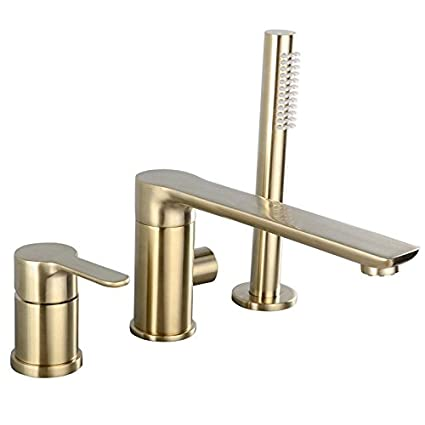 Amazon Com Plumber Champagne Bronze Bathroom Faucet 3 Set With