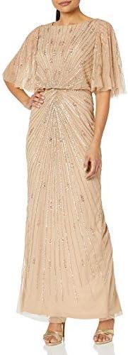 Adrianna Papell Women`s Bead Flutter Gown / Adrianna Papell Women`s Bead Flutter Gown