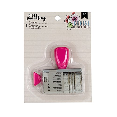 American Crafts Pink Date Stamp Bible Journaling (American Crafts Date Stamp)