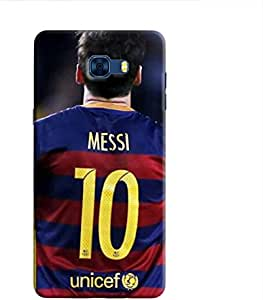 Cover It Up - Messi Back Galaxy C7 Pro Hard Case