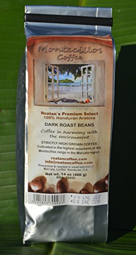 Montecillos Coffee Dark Roast Bean 14 oz Bag