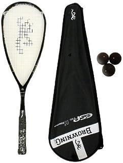 Browning ESP 110 Nano Ti Raquette de Squash-Lot de balles de Squash Dunlop