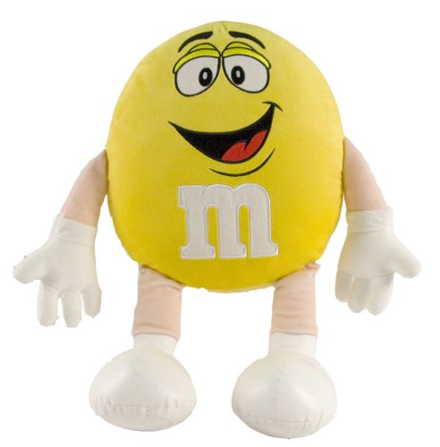 M&M Character Medium Plush, Yellow, used for sale  Delivered anywhere in USA