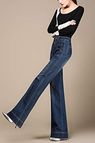 De Vaqueros Mezclilla Casual B28 Pantalones Alta De Cintura Pantalones RwYY1