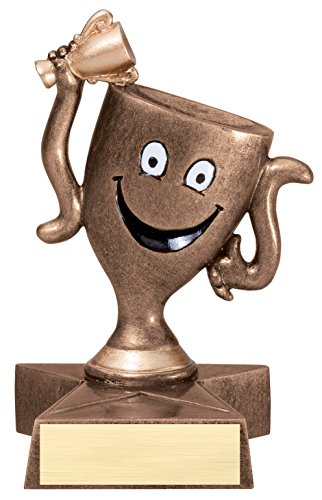 Winner's Cup Lil' Buddy Trophy - Customize Now - Personalized Engraved Plate Included & Attached to Award - Perfect Winners Trophy - Hand Painted Design - Prize Winning Halloween Costumes For Adults