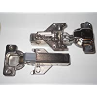 2 Blum 120 Degree Face Frame Clip On Hinge With Soft Close Adapters & Plates-Full overlay by Blum