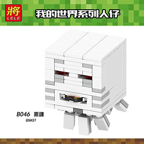 Best choise product Single Sale Minecraft Ghast Building Blocks Toys for Children Compatible legoing minecrafts legoings figues Bricks b046 -