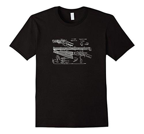 Mens Henry Rifle Patent Drawing   2Nd Amendment Gun T Shirt Medium Black