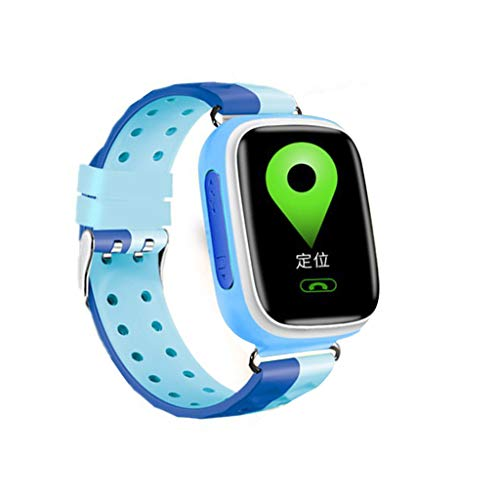 Q80 Kids Smart Watch, salaheiyodd GPS Tracker for Girls Boys Touch Screen Fitness Tracker Anti-Lost SOS Alarm Clock Call GPS LBS SIM Alarm Gift Learning Toy for Birthday Gifts (Blue)