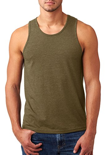 Price comparison product image Next Level Men's Rib-Knit Sublimated Muscle Tank Top, Large, Military Green
