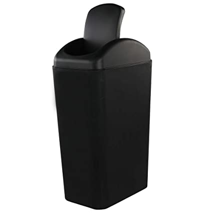 Pekky Plastic Kitchen Trash Can,14 L, Black Lid Garbage Bin, Ideal for  Condos, Hotels or Dorm Rooms