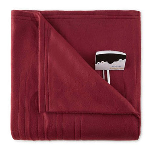 Red Electric Blanket - Biddeford 1001-9052106-302 Comfort Knit Fleece Electric Heated Blanket Full Red