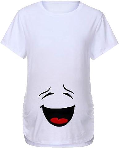 VECDY Camisetas para Premamá Verano, Suave Elastico Blusas Enfermera Manga Corta para Embarazada Maternidad Tops Camiseta con Estampado Materno Blusas 2019 Oferta: Amazon.es: Ropa y accesorios