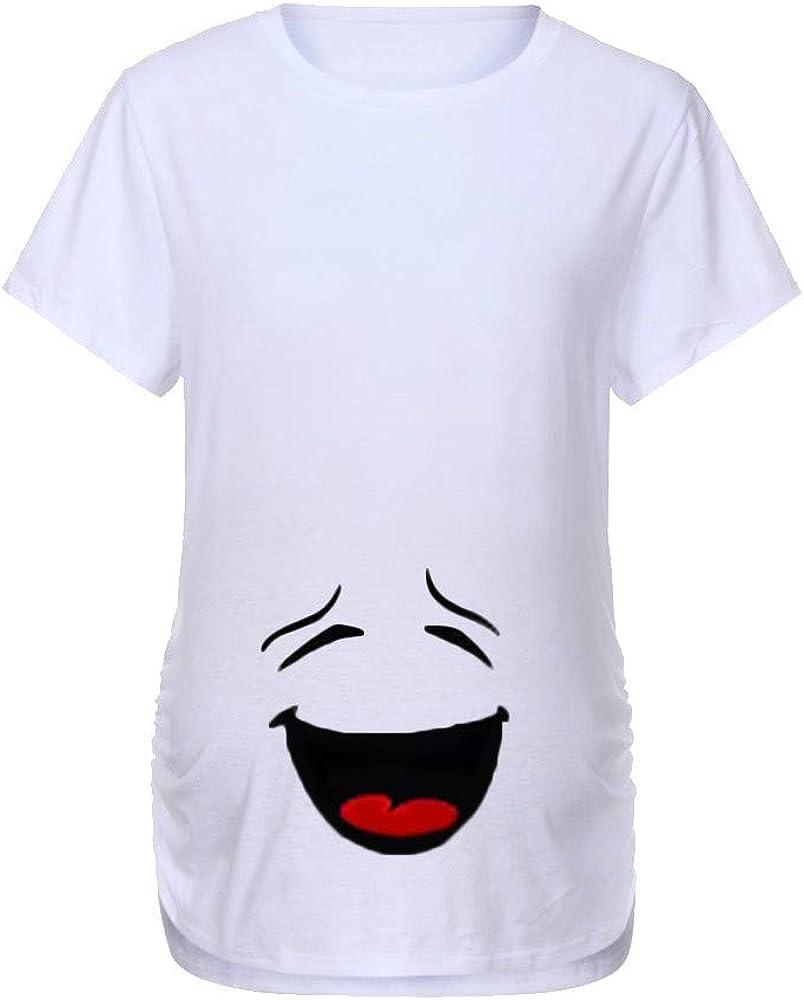 Mitlfuny Ropa premamá Tops Mujeres Embarazadas Maternidad Dibujos Animados Bebe Estampado Camisa Lactancia Camiseta Verano Enfermería Embarazada Manga Corta Elasticidad Tamaño Grande Embarazo Blusa: Amazon.es: Ropa y accesorios