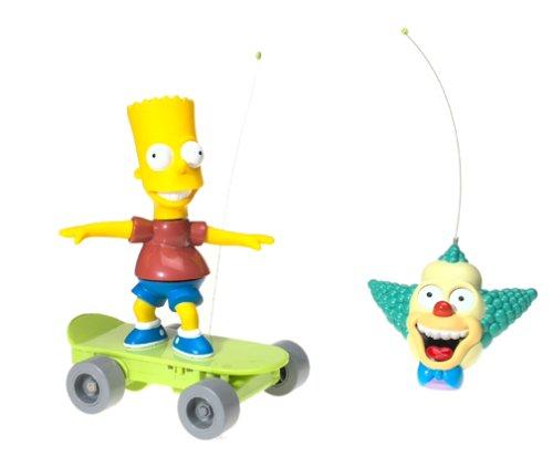 Playmates The Simpsons Radio Control Skateboarding Bart S...