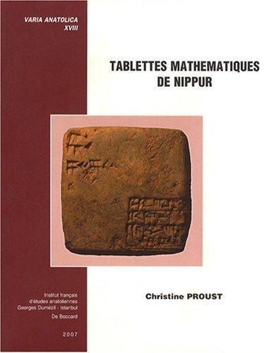 Price comparison product image Tablettes mathématiques de Nippur (1Cédérom)