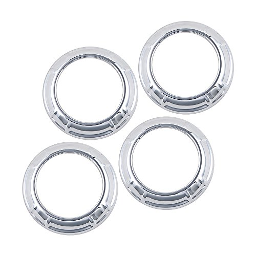 Set of 4pcs Chrome Air Condition Switch Vent Interior Decoration Cover Trim Guard For 2007-2016 Jeep (Vent Switch Panel)