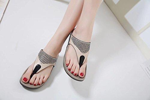 Belloo Sandalias de Vestir de Material Sintético Para Mujer Black Details