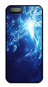 iPhone 5 5S Case Blue white Abstract Art PC Custom iPhone 5 5S Case Cover Black by lolosakes