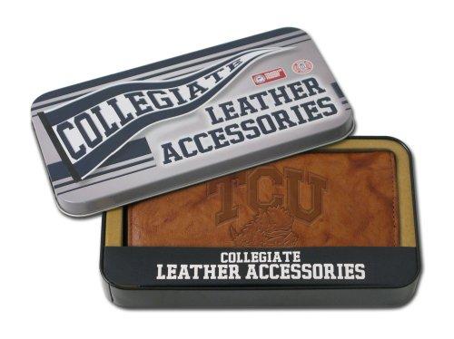 NCAA TCU Embossed Genuine Leather Checkbook Cover