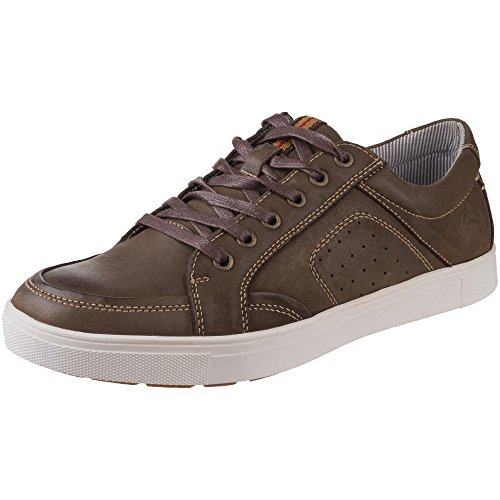 Cotswold Mens Cheltenham Breathable Lace Up Leather Trainers Brown