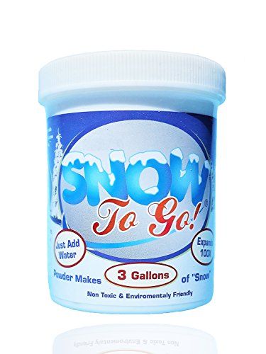 Instant Snow Powder Jar 8 Oz - Makes 3 Gallon Of Snow - Great For Decorating And Fun – Non Toxic & Environmental Friendly (Scoop and instructions included) by Fun Flow (Image #1)