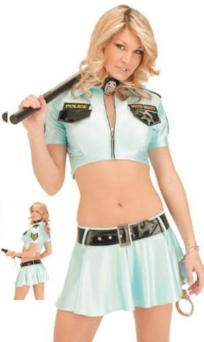 Forplay FPH14 Sexy Halloween Costumes Naughty Cop Costume Womens U.S. M/L Blue ()