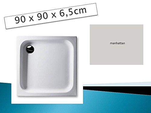 Gut Acryl Duschwanne 90 x 90 cm Farbe: MANHATTAN flach rechteckig  RP18